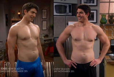 brandon routh underwear - boxer shorts in the exes on tvland