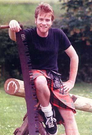 hot scottish men wearing kilt - ewan mcgregor