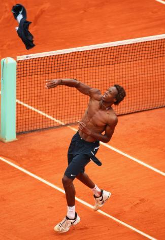 gael monfils shirtless tennis star