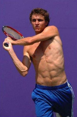gilles simon abs topless