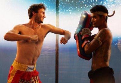 gilles simon shirtless kickboxing