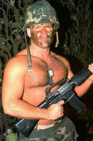 hot men in uniform shirtless soldier