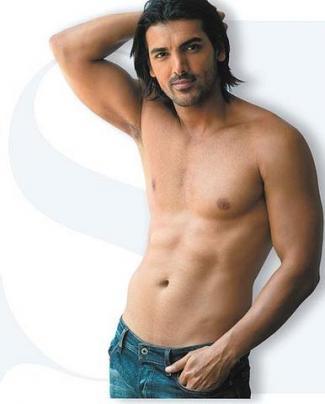shirtless indian men - actor john abraham