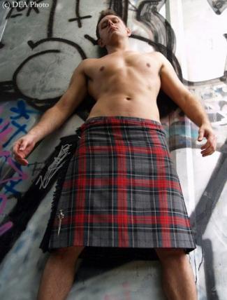 hot guys in kilt male model