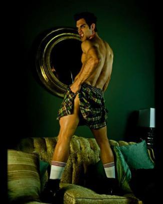 hot guys in kilt male model todd hanebrink