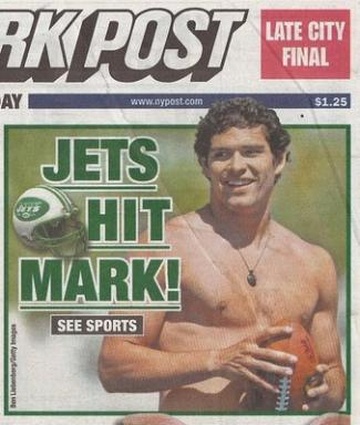 mark sanchez shirtless ny post front page