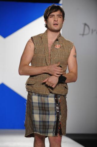 hot guys in kilt celebrity ed westwick