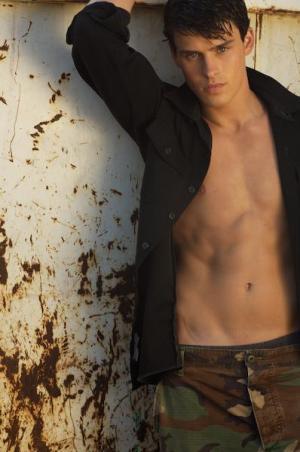 adam gregory shirtless camo pants