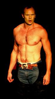 joel mchale shirtless in jeans