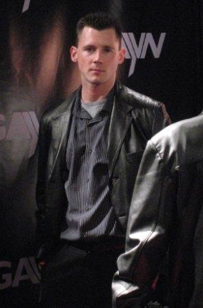 barrett long model actor fashion leather jacket