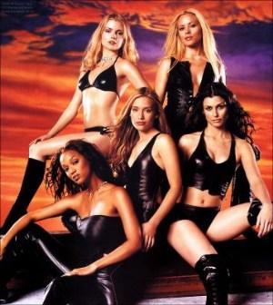 girls in leather underwear