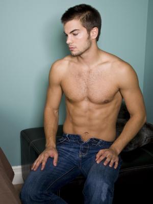 hot men in blue jeans