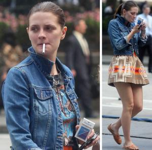 mischa barton smoking