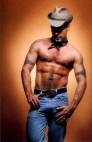 cowboy in jeans