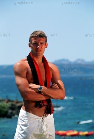 Andriy Shevchenko Shirtless footballer