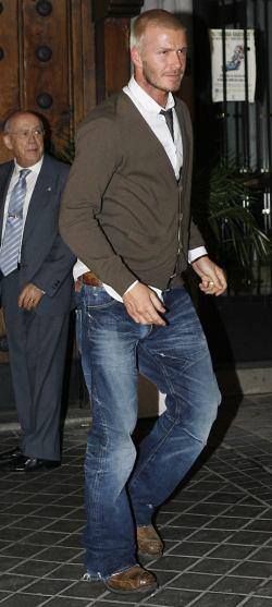 david beckham jeans faded