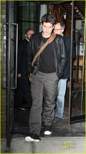 hot guys in leather jacket john meyer