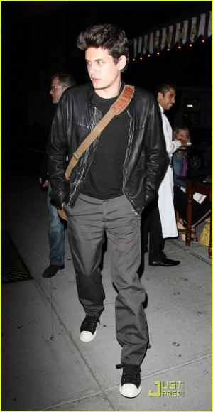 hot guys in leather jacket - john meyer singer with style