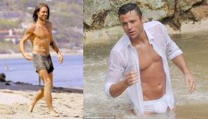 male celebrity wet underwear - colin farrell boxer briefs and mark wright in white briefs
