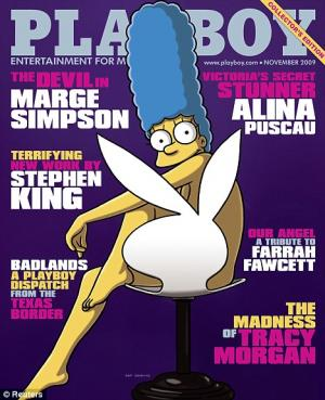 marge simpson playboy covergirl