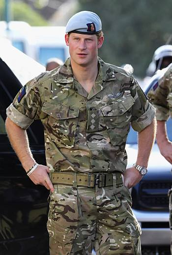 prince harry military uniform - camouflage