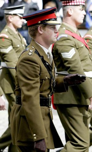 prince harry military uniform leather