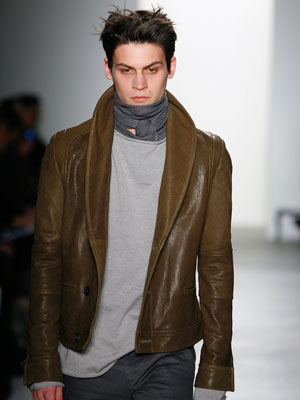 richard chai sexy mens leather jacket
