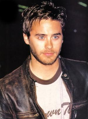 sexy mens leather jacket - jared leto