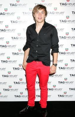 red jeans for men hot - william moseley