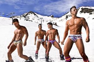 mens winter underwear outside