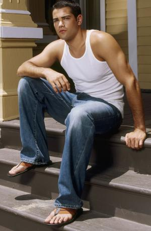 hot guys in jeans and shirt - jesse metcalfe