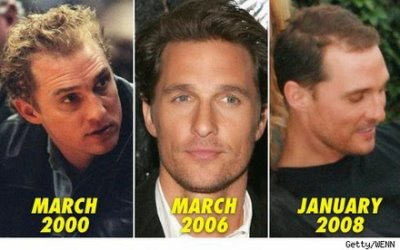 matthew mcconaughey hair transformation over time