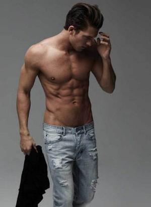 shirtless men in faded jeans industrie adam senn