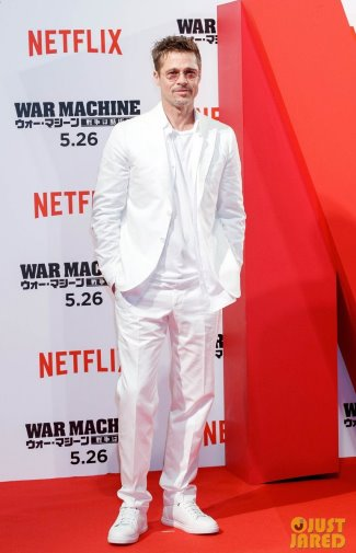 brad pitt suit style watch isaia white suit