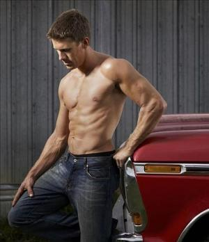 carl edwards shirtless in jeans