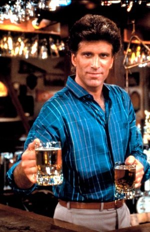 hot bartenders ted danson in cheers