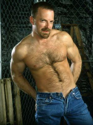 mens jeans unzipped - hairy daddy