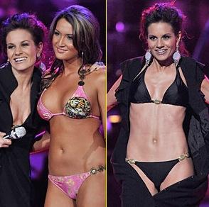 kara dioguardi vs bikini girl