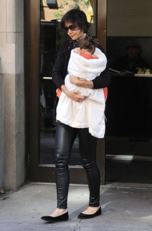 stretch leather leggings for girls - katie holmes