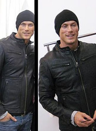 mackage leather jackets for men - jason lewis sex and the city