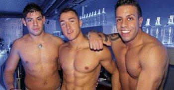 sexy hunky bartenders