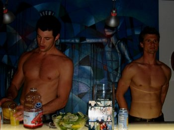 shirtless sexy male bartenders