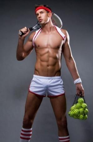 men in short shorts tennis