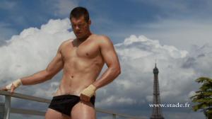 Joe Van Niekerk underwear dieux du stade