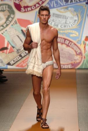 adam senn underwear model runway