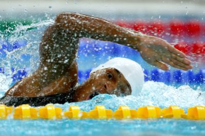 black male swimmers emile ronnie bakale - congo - 2008 olympics