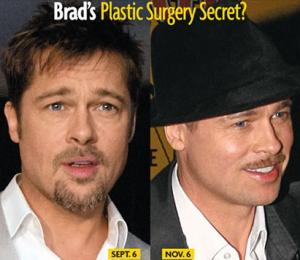 brad pitt plastic surgery - before and after