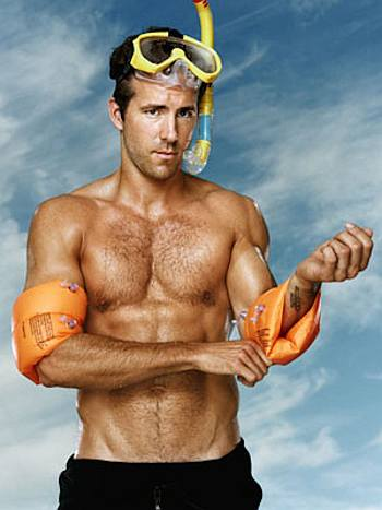 celebrity chest hair - ryan reynolds