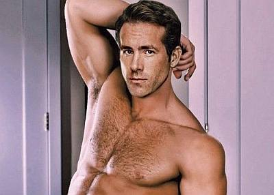 celebrity chest hair - ryan reynolds2