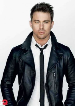leather jacket shirt and tie